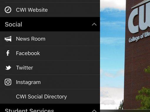 CWI mobile app